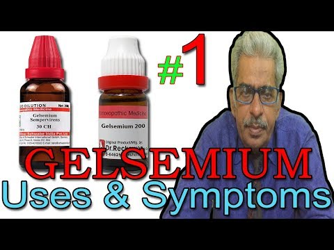 Gelsemium in Hindi (Part 1) - Uses & Symptoms in Homeopathy by Dr