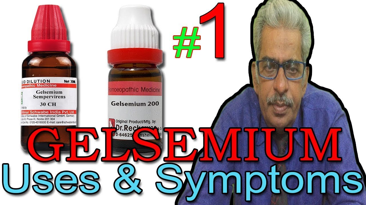 Gelsemium in Hindi (Part 1) - Uses & Symptoms in Homeopathy by Dr P  S   Tiwari