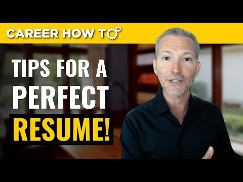 Resume Tips 2018: 3 Steps to a Perfect Resume