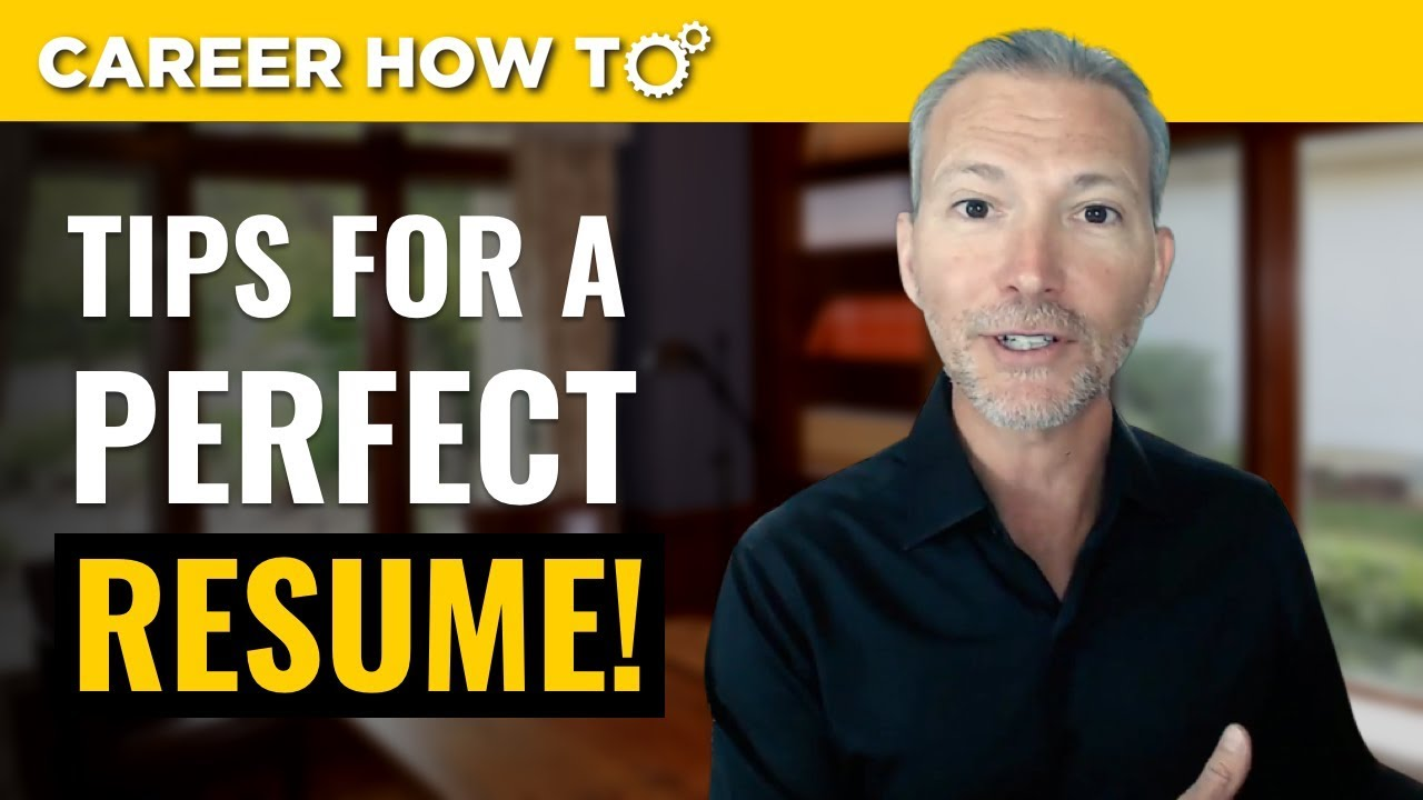 Resume Tips 2019 3 Steps To A Perfect Resume Youtube