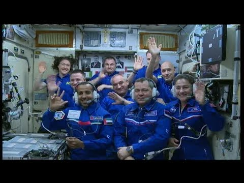 Expedition 61 Crew Docks to the International Space Station