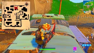 FOLLOW THE TREASURE MAP FOUND IN HAUNTED HILLS! FORTNITE SECRET STAR LOCATION! WEEK 9 CHALLENGES