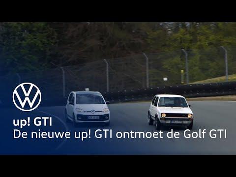 De nieuwe Volkswagen up! GTI ontmoet de Golf I GTI