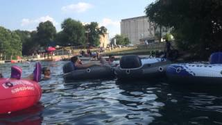 Comal River floating August 15th San Antonio Texas Vacation fun see more videos