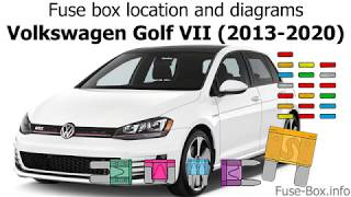 fuse box location and diagrams: volkswagen golf mk7 (2013-2020) - youtube  youtube