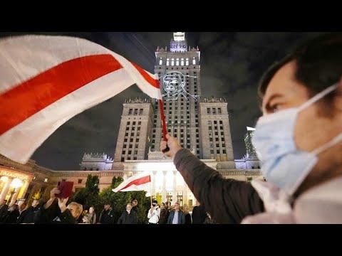 Protesta en Varsovia para la liberación de un periodista detenido por Bielorrusia