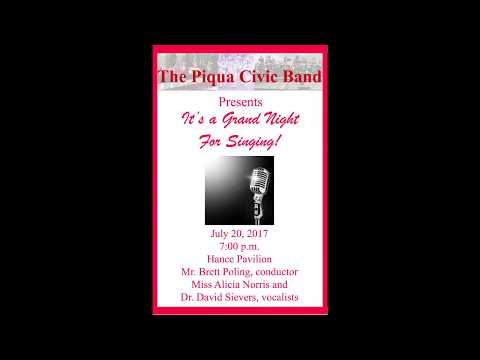"""A Grand Night for Singing""- Piqua Civic Band Concert"