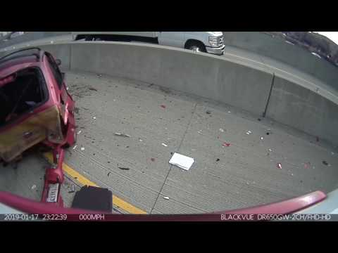 5/22/2017 Four Car Accident on Interstate 5 near Broadway (Rear Dash Camera)