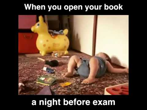 When you open your book before exam || Funny video by crazy knights