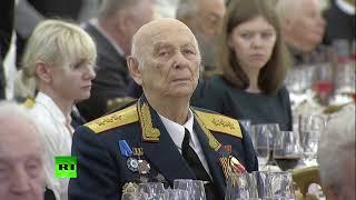 Путин поздравляет ветеранов Великой Отечественной войны в Кремле
