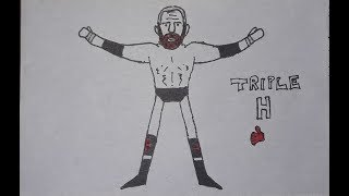 How To Draw Triple H | WWE ( Easy )
