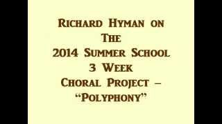 Richard Hyman Introduction to Summer School Music Classes, Foundation for the Revival of Classical C