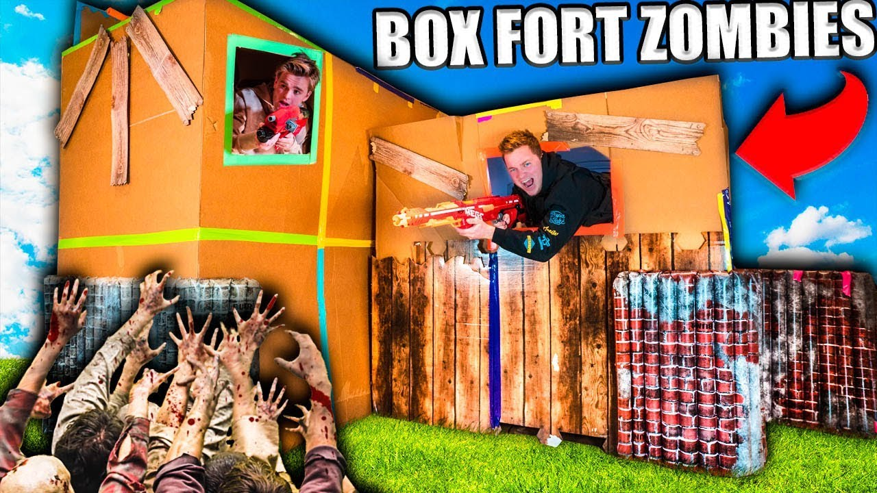 two-story-box-fort-zombies-base-24-hour-zombies-survival-challenge