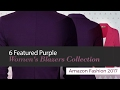 6 Featured Purple Women's Blazers Collection Amazon Fashion 2017