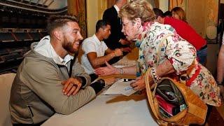Cristiano Ronaldo and Sergio Ramos meet Real Madrid fans in Las Palmas