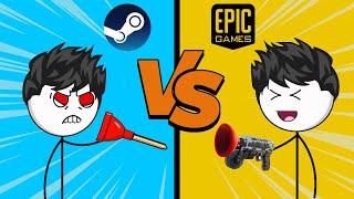 Steam Gamers Vs Epic Gamers | Steam Vs Epic Games