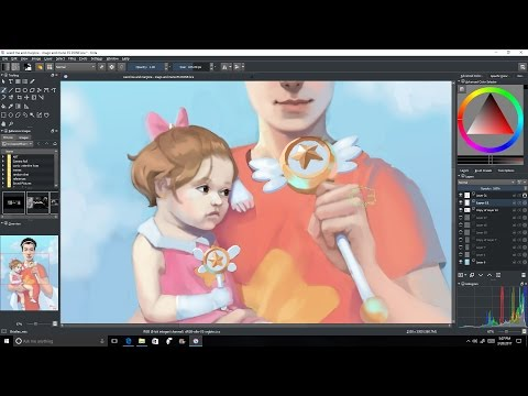 Speed Painting-Magical people, Krita /Some of my goals/