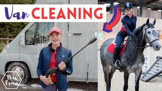 Cleaning the Horse Van + Riding Joey indoors for the First Time! | This Esme