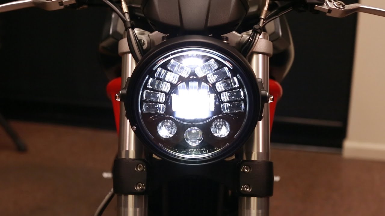 Led Headlight Conversion Kit >> Monster Headlight Conversion Installation - 696/796/1100 - YouTube