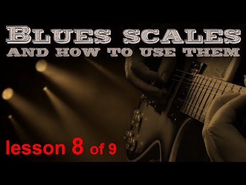 The 5 positions of A minor blues scales brought together.