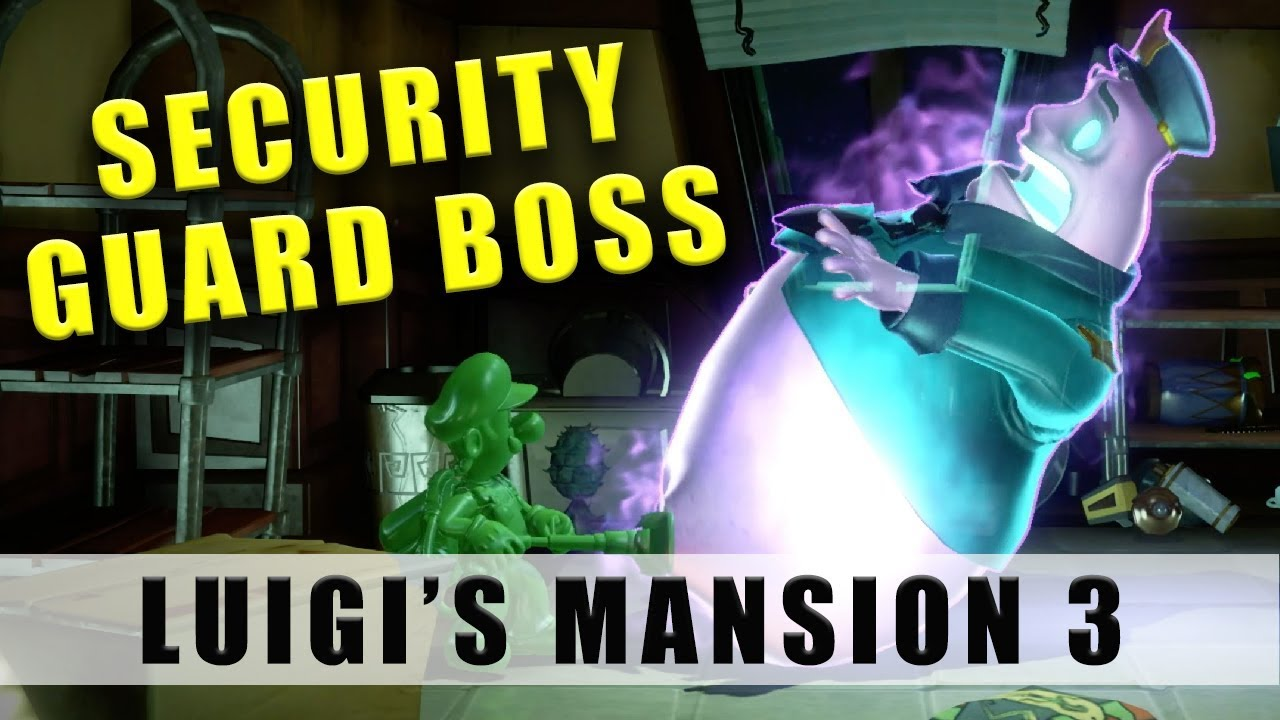 Luigi S Mansion 3 Security Guard Ghost Boss 3f Boss
