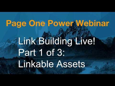 Link Building Live!  Linkable Assets