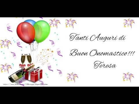 Favori Buon Onomastico Teresa! - YouTube EX68