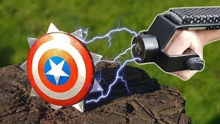 Electromagnetic - Captain America Throwing Shields