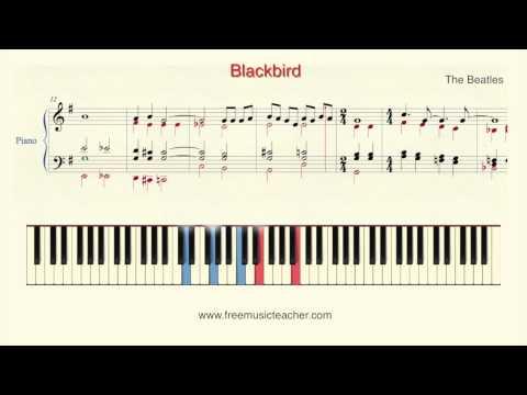 "How To Play Piano: The Beatles ""Blackbird"" Piano Tutorial by Ramin Yousefi"