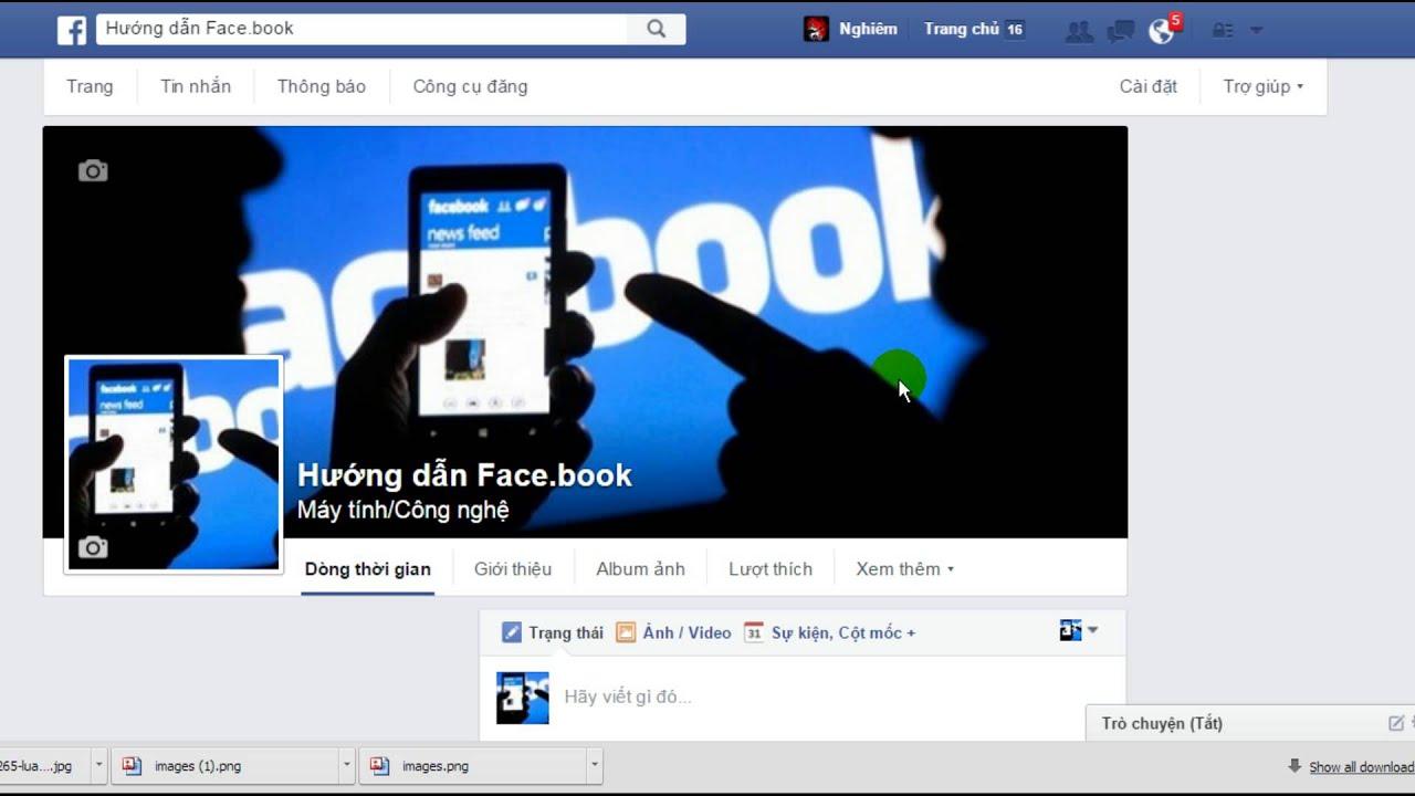 Hướng dẫn đăng hình ảnh, thêm trạng thái, chỉnh sửa (Xoay ảnh), xóa ảnh trên trang Facebook