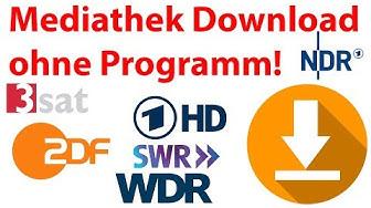 Anleitung: Video Download aus der Mediathek ohne (zusätzliches) Programm