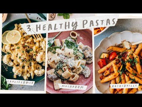 3 HEALTHY PASTA RECIPES - Easy Vegetarian Meal Ideas