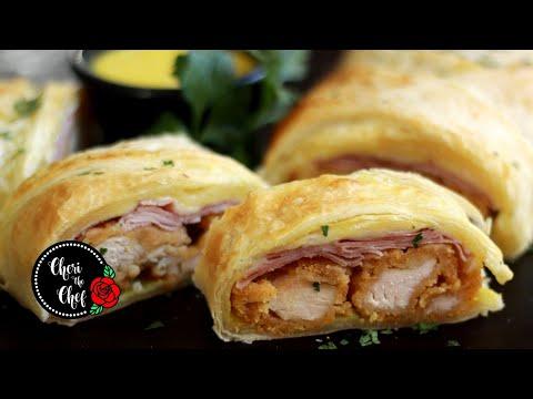 chicken-cordon-bleu-puff-pastry-🌯-easy-5-ingredient-recipe