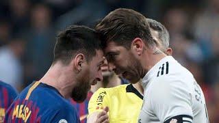 جميع التدخلات الخشنة والتوترات في مباراة الكلاسيكو بين برشلونة وريال مدريد 2_2