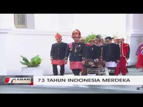 Presiden Jokowi Tinjau Persiapan Upacara Ditemani Cucunya, Jan Ethes