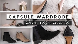 Shoe Essentials for a Capsule Wardrobe and Minimal Style | by Erin Elizabeth