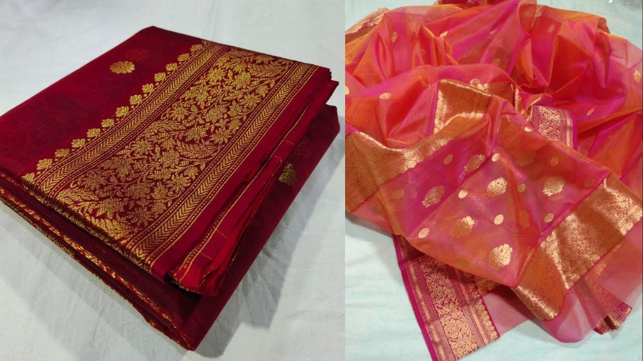 Chanderi Katan Silk Sarees Online | MILLION TRENDS