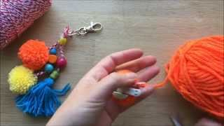 Easy Pom Pom Zipper Pulls and Key Chains (Sponsored by Annie the Movie)