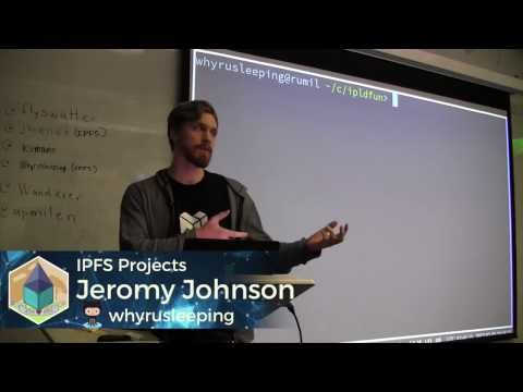 Jeromy Johnson Shares IPFS Blockchain Fun