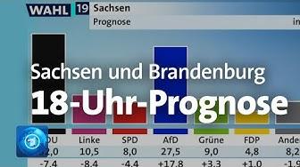 18-Uhr-Prognose zur Sachsen- und Brandenburg-Wahl