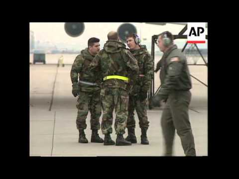 GERMANY: US AIRCRAFT USING AIRBASES AS STOPOVER TO THE GULF