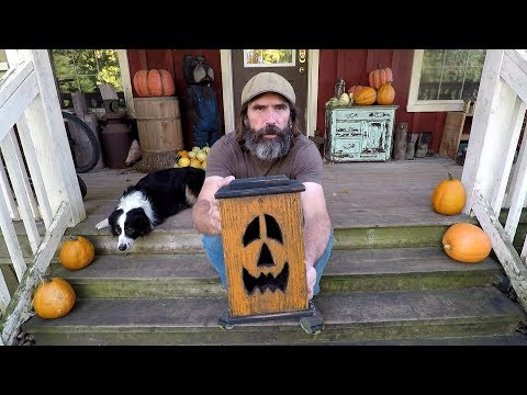 Reclaimed Pallet Wood Jack-O-Lantern