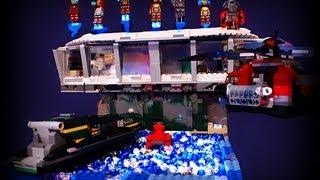 LEGO Custom GIANT Iron Man 3 Malibu Mansion W/Armory MOC--Tony Stark House