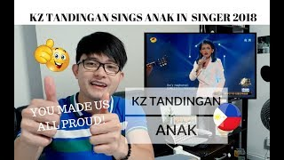 [REACTION] KZ TANDINGAN made us ALL PROUD by singing ANAK in Singer 2018 | #JANGReacts