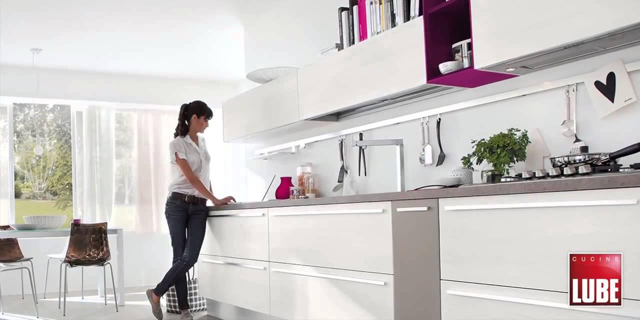 Lube Modello Noemi Cucine Lube Roma - YouTube