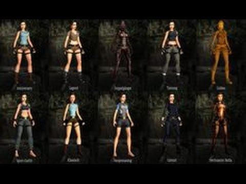 Tomb raider anniversary outfits youtube