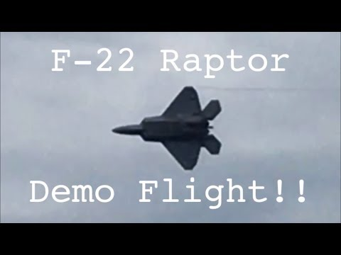 General Aviation - F-22 Raptor Demo Flight at the Chicago Air And Water Show