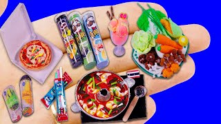 11 NEW DIY MINIATURE REALISTIC FOOD AND DRINKS FOR DOLLHOUSE BARBIE