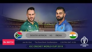 India vs South Africa Live Score | ICC World Cup 2019 | IND vs SA |