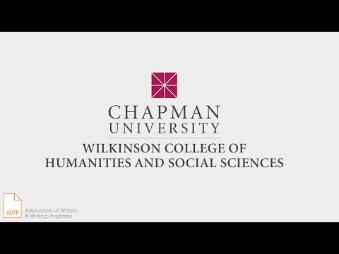 Chapman University MFA in Creative Writing (AWP Campus Visit Video Series)
